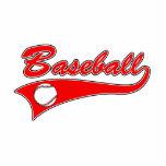 Baseball Logo Red Acrylic Cut Outs