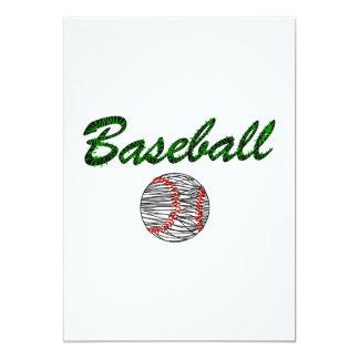 Baseball Logo red green 5x7 Paper Invitation Card