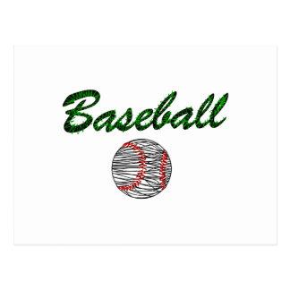 Baseball Logo red green Postcard
