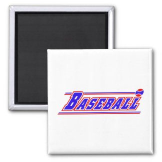 Baseball logo red white blue.png 2 inch square magnet