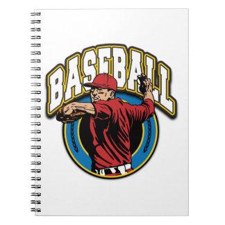 Baseball Logo Spiral Notebook