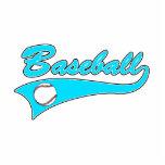 Baseball Logo Teal Acrylic Cut Out