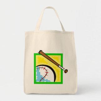 baseball logo tote bag