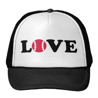 Baseball love ball hats