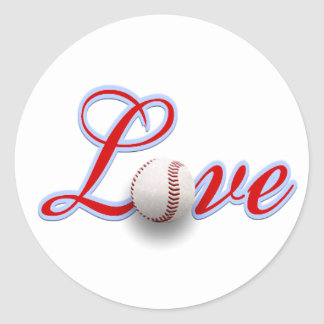Baseball Love Gift Sticker