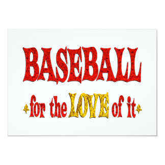 Baseball Love Custom Announcements
