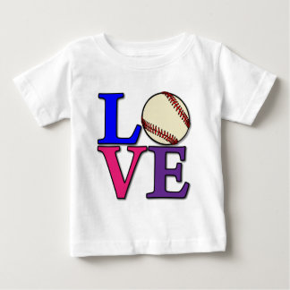 Baseball LOVE, multi Baby T-Shirt