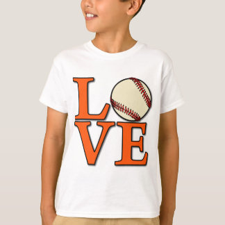 Baseball LOVE, orange T-Shirt