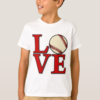 Baseball LOVE, red T-Shirt