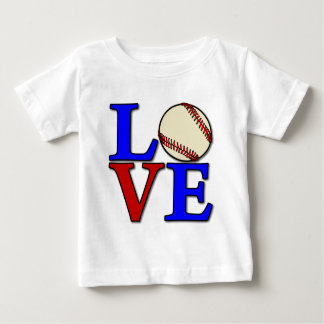 Baseball LOVE, red-wh-blue Baby T-Shirt