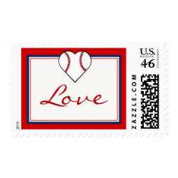 Baseball Love stamps stamp
