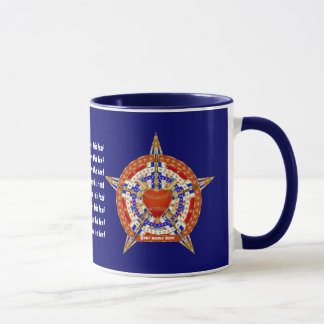 Baseball Love with Patroitic Heart Logo View hints Mug