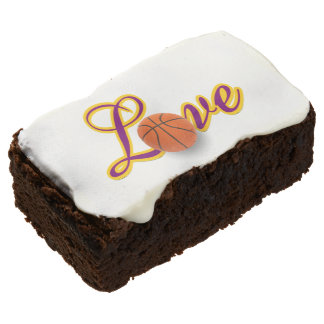 Baseball Lover Team Colors Theme Party Brownies Rectangular Brownie