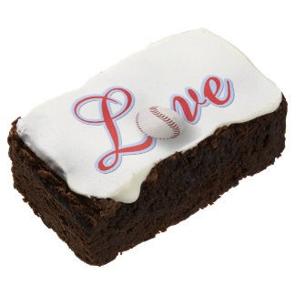 Baseball Lover Theme Party Ideas Brownies Rectangular Brownie
