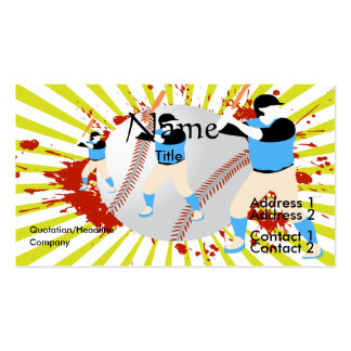baseball lover vector design Double-Sided standard business cards (Pack of 100)