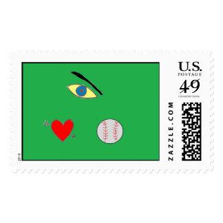 Baseball lovers stamp