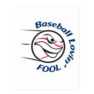 BASEBALL LOVIN FOOL POSTCARD
