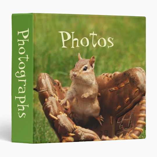 "Baseball Loving Chipmunk 1.5"" Photo Album Binder"
