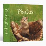 "Baseball Loving Chipmunk 1.5"" Photo Album Binders"