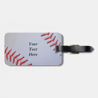 Baseball luggage text tags for luggage