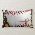 Baseball Lumbar Pillow at Zazzle