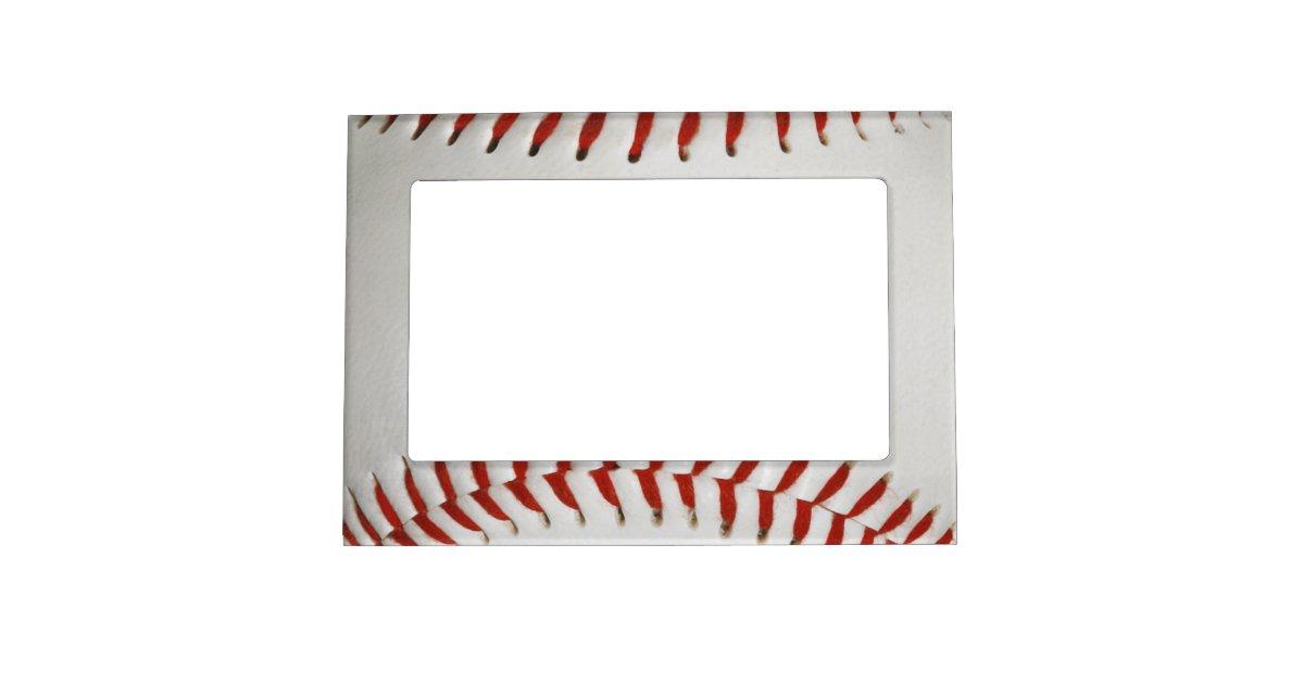baseball magnetic frame zazzle