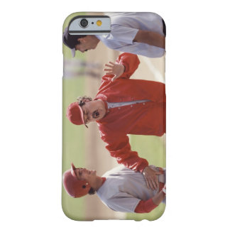 Baseball manager arguing with umpire and holding barely there iPhone 6 case