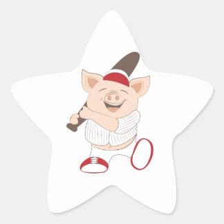 Baseball mascot sticker