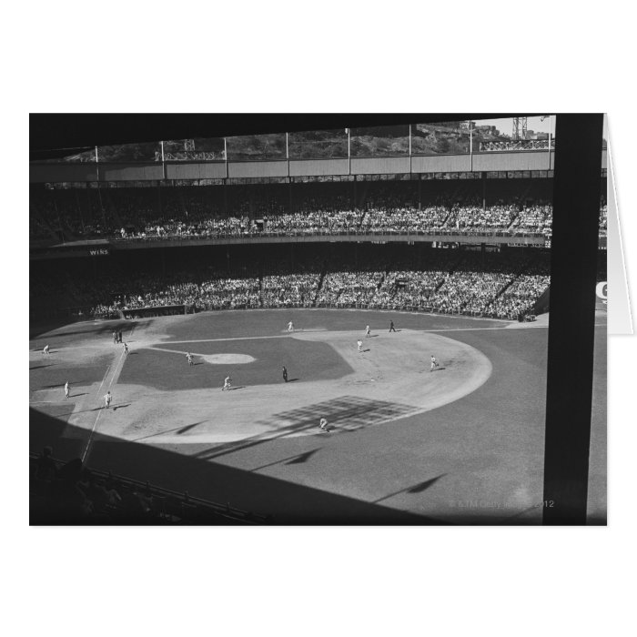 Baseball match on stadium card