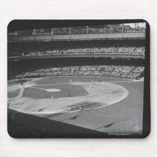 Baseball match on stadium mouse pad