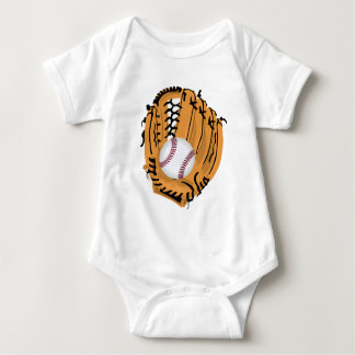 Baseball Mitt and Ball Baby Bodysuit