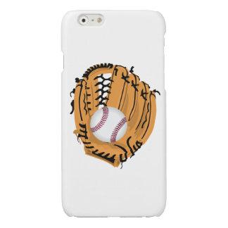 Baseball Mitt and Ball Glossy iPhone 6 Case