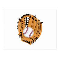 Baseball Mitt and Ball Postcard