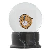 Baseball Mitt and Ball Snow Globe