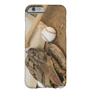 Baseball, Mitt, and Bat on Base Barely There iPhone 6 Case