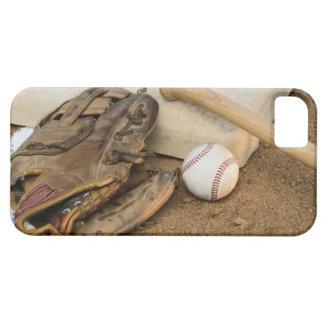 Baseball, Mitt, and Bat on Base iPhone SE/5/5s Case