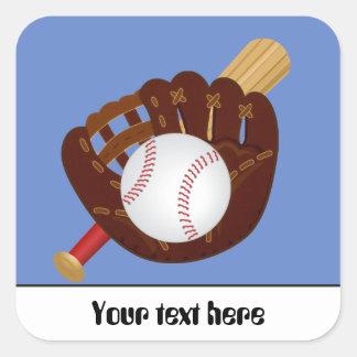 Baseball mitt ball bat ustomizable sticker