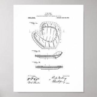 Baseball Mitt Patent Posters