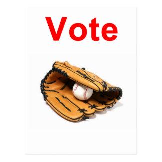 Baseball mitt romney 2012 postcard