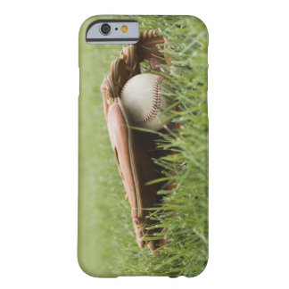 Baseball mitt with ball in grass barely there iPhone 6 case