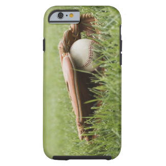 Baseball mitt with ball in grass tough iPhone 6 case