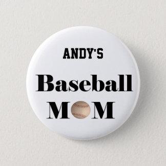 baseball mom badge button