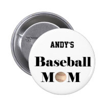 baseball mom badge button