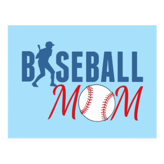 Baseball Mom Blue Postcard