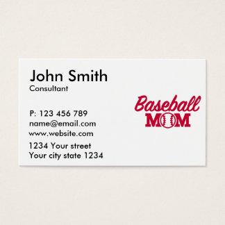 Baseball mom business card