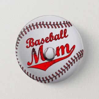 Baseball Mom Button