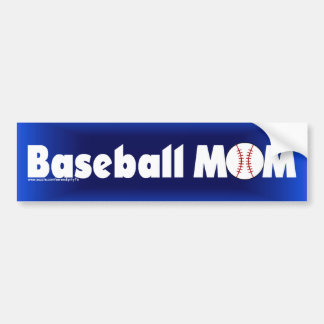Baseball Mom Car Bumper Sticker
