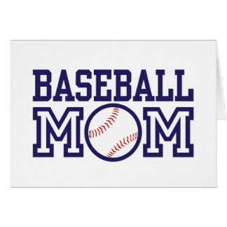 Baseball Mom Card