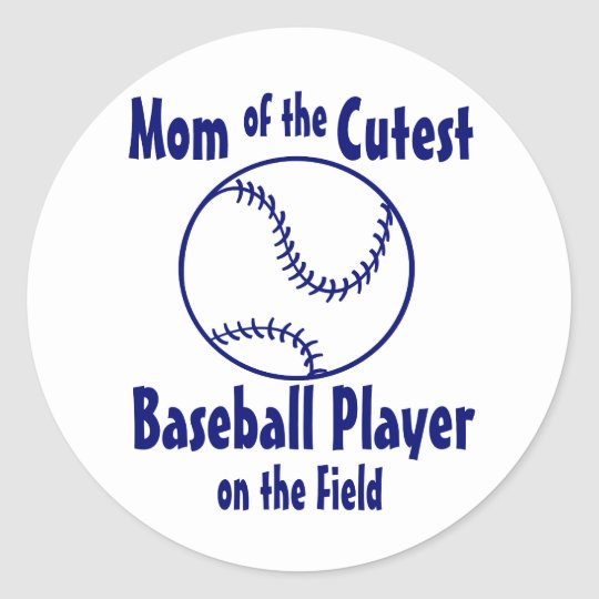 Baseball Mom Classic Round Sticker