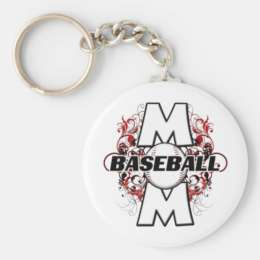 Baseball Mom (cross) copy.png Basic Round Button Keychain
